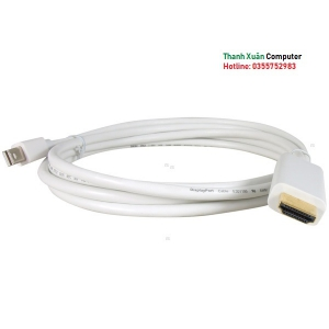 Cáp Mini Displayport, thunderbolt to HDMI 1,5m cho Macbook Pro, Macbook Air